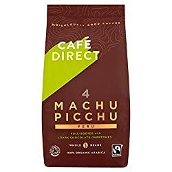 Fairtrade Organic 100 Percent Arabica beans Strength 4 medium and strong Sumptuously rich and smooth, with dark chocolate overtones