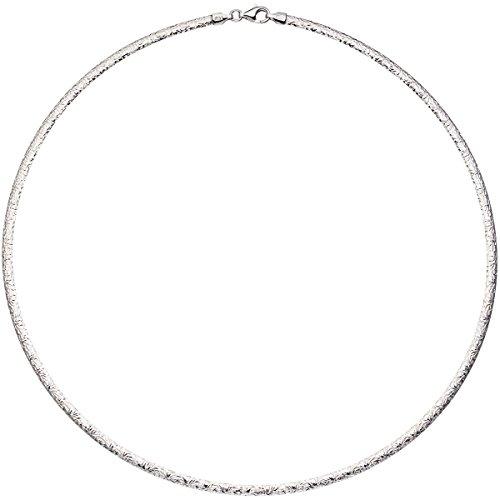JOBO Damen-Halsreif aus 925 Silber rosegold vergoldet 45 cm