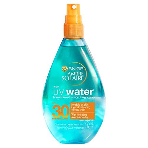 Garnier Ambre Solaire UV Water Aloe Vera Clear Sun Cream Spray SPF30,...