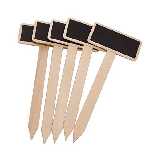 Healifty - 20 etiquetas de madera para jardín o guardería con forma de T