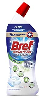 Bref Ultimate Gel White Active+ Ultra Bleach Power, Hospital grade disinfectant Toilet Cleaner gel, 450m(packaging may vary) (B07D2G39MW) | Amazon price tracker / tracking, Amazon price history charts, Amazon price watches, Amazon price drop alerts