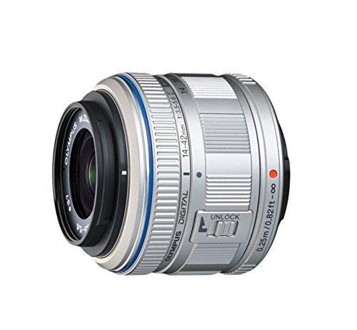 Olympus M.Zuiko Digital 14-42mm F3.5-5.6 II R Objektiv, Standardzoom, geeignet für alle MFT-Kameras (Olympus OM-D & PEN Modelle, Panasonic G-Serie), silber