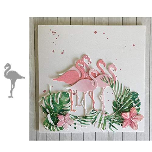 KimcHisxXv Stanssjabloon, flamingo scrapbooking stempel stempel stempel sjablonen voor scrapbooking, fotopapier, knutselreliëf DIY make-ing verjaardagscadeau