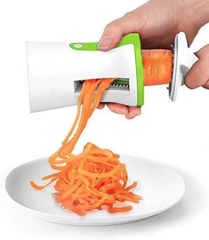 Pamura - Julienne Spiralius - Spiralschneider Gemüse - Küchen Zubehör - Zoodle Maker - robust - einfache Anwendung