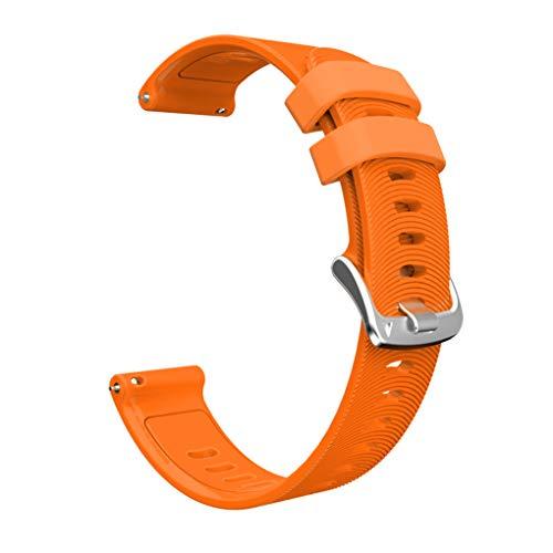 kexinda Sport-Silikon-Uhr-Band-Fitness-Armband-Silikon-Bügel kompatibel mit Garmin/Huawei/Samsung 20mm, orange
