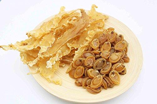 China Good Food Set-21 Dried Dalian Abalones 大連鮑 x Dried Cod Fish Maw 鱈魚膠 Free Airmail