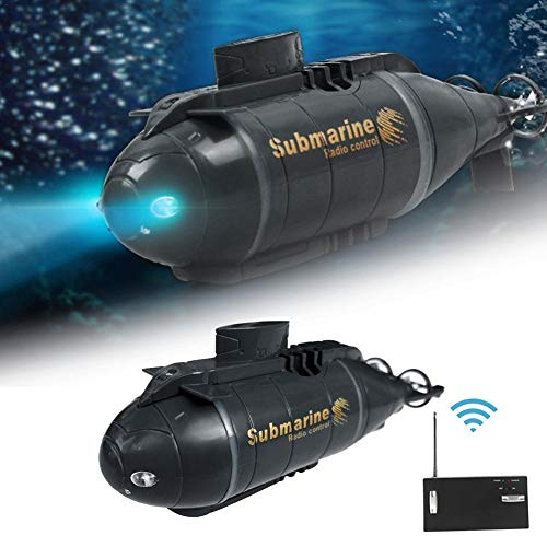 Telisii 5 '' Mini RC U-Boot Boot, Glühendes U-Boot Schiff, Radio Fernbedienung Elektrisches Schiff Spielzeug, Wasserdichtes Tauchen Wasserfahrzeug Kinder Geschenk für Pools, Badewannen, Fischtanks