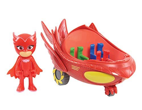 PJ Masks vehicle & figure–Owlette Owl Glider , Modelli/Colori Assortiti, 1 Pezzo