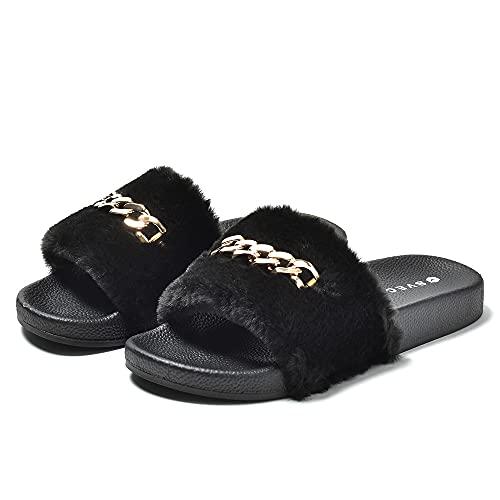 [シュベック] チェーンビット シャワーサンダル メンズ レディース 靴 ファーブラック 26.0cm