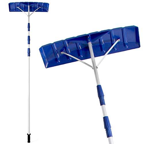 Ohuhu 21 FT Adjustable Telescoping Snow Roof Rake, Twist-N-Lock Snow Rake for Roof with 6