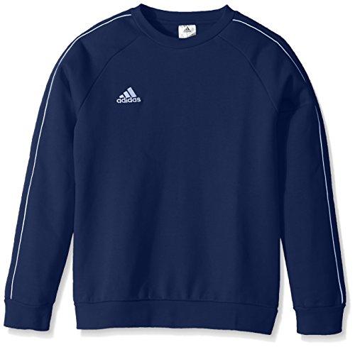 adidas Core18 - Sudadera Unisex, Sudadera jóvenes de fútbol core18, Unisex niños Niños Niñas, Color Azul Oscuro/Blanco, tamaño Large