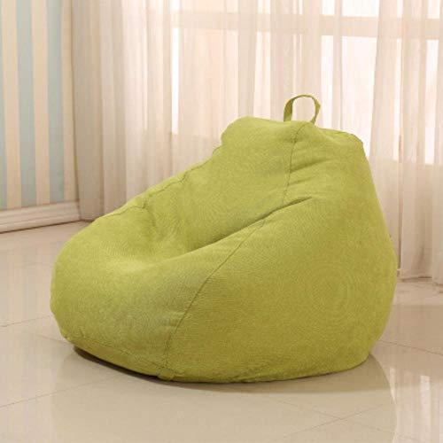 QIROG Lazy zitzak zitzak zitzak sofa afdekking huisdecoratie kleding bed sofa tatami meubilair woonkamer 90X100 groen