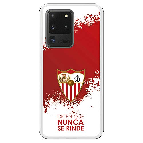 Funda para Samsung Galaxy S20 Ultra Oficial del Sevilla FC Sevilla Dicen Que Nunca se Rinde para Proteger tu móvil. Carcasa para Samsung de Silicona Flexible con Licencia Oficial del Sevilla FC.