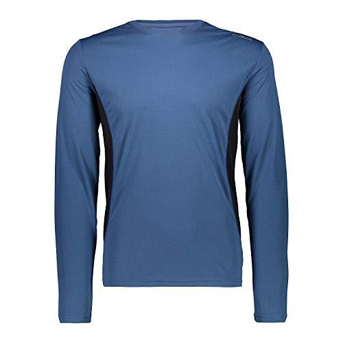 CMP Shirt Fonctionnel Un T-Shirt Blue Respirant Antibactérien - 50