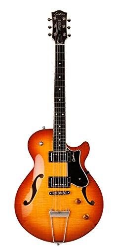 Godin Montreal Premiere Supreme Lightburst Flame HG E-Gitarre