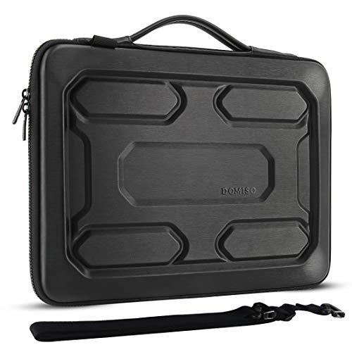 DOMISO 17 'Laptop Sleeve Borsa a tracolla antiurto impermeabile EVA Custodia protettiva per Dell Inspiron/MSI GS73VR Stealth Pro/Lenovo IdeaPad 320 321/HP Envy 17/LG Gram 17'/ASUS ROG Strix GL702VS