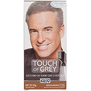 Just For Men T35 Touch Of Grey - Hair Color - Medium Brown Grey 40g