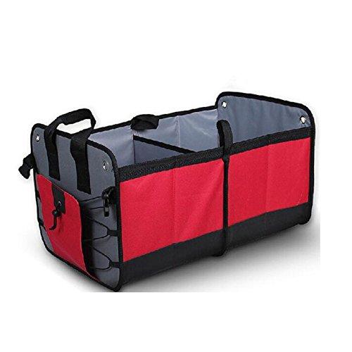 Grote auto Boot Organizer (oud) – Ultra stevige W/Base Boards te voorkomen inklappen,Multi-Functie Auto Boot Tidy Bags