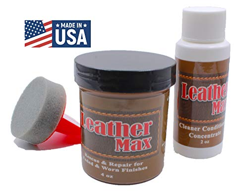 Furniture Leather Max Refinish and Restorer Kit / 4 Oz Restorer /...