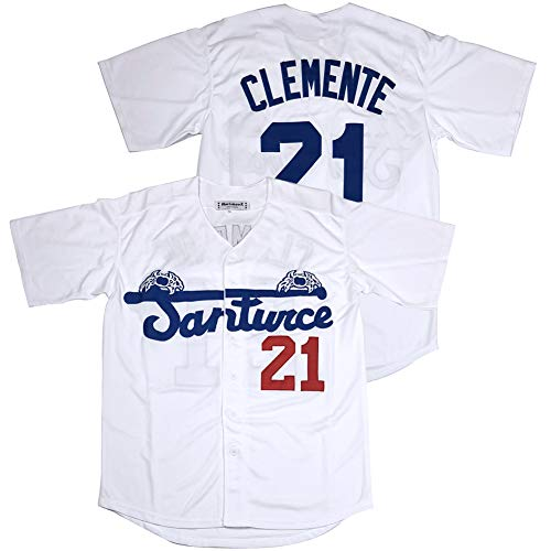 #21 Roberto Clemente Santurce Crabbers Puerto Rico Baseball Jersey Stitched White Size XL