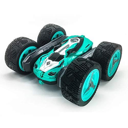 CHJPRO Coche teledirigido Anfibio, Stunt Car Impermeable Anfibios con 2 Lados de conducción en Agua y Tierra Coche radiocontrol Electric Juguetes para niños Verde,Verde