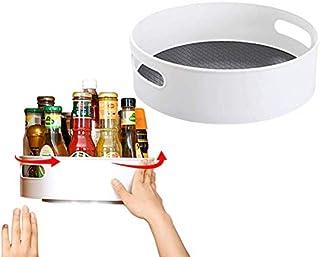 Organisateur de rangement de la cuisine de la plate-forme rotative pour la boîte ou les assaisonnements - Goutte de garde-...