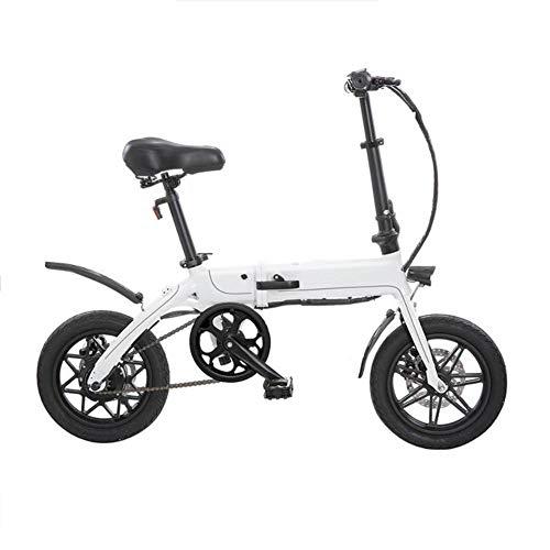 Y&WY Bicicleta Eléctricas, Plegable Bicicleta De Aleación De Aluminio Batería De Litio8ah...