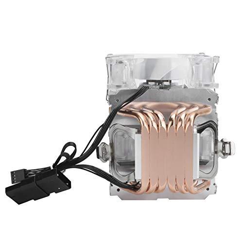 Enfriador de CPU de Doble Ventilador, Enfriador de CPU de 4 Pines, Enfriador de CPU de Larga Vida útil, silencioso y eficiente, Duradero y con Gran Volumen de Aire para el hogar, para
