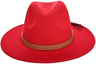 Autumn Winter Sun Hat Women Men Fedora Hat Classical Wide Brim Felt Floppy Cloche Cap Chapeau Imitation Wool Cap