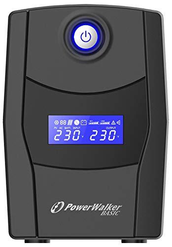 PowerWalker Basic VI 600 STL 600VA/360W Line Interactive, HID Driver, 10121072 (Line Interactive, HID Driver Outlet: 2 x CEE 7/3 (Type F))