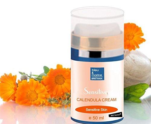 Crema alla Calendula, Ginseng e Vitamine C & E 50 ml Crema Marigold Lenitiva Viso Pelli Secche