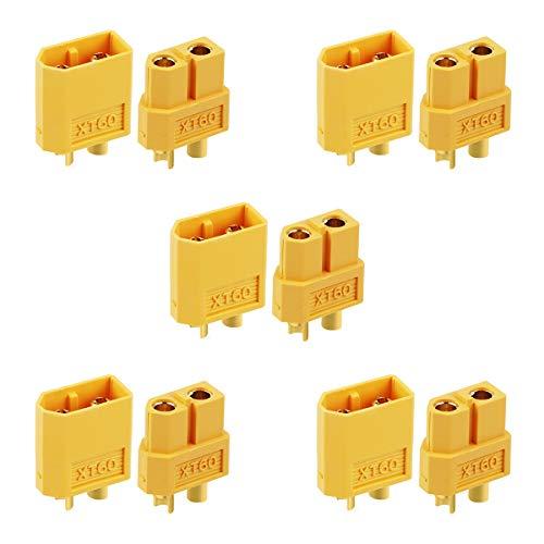 Makerfire 10 stücke XT60 Batterie Anschlüsse für RC Batterie Spielzeug Fahrzeug 5 stücke Stecker und 5 stücke Buchse