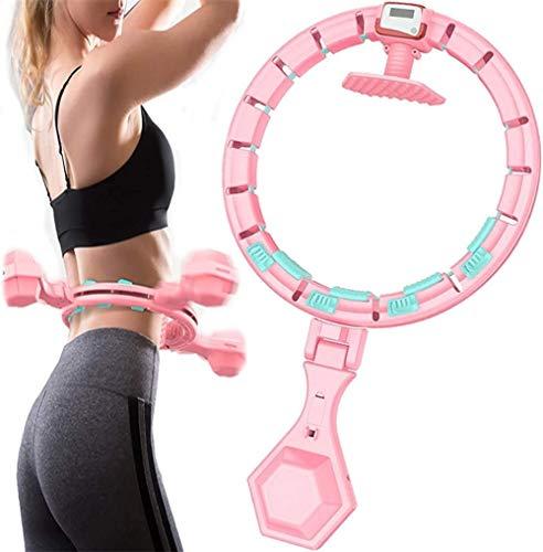 Hula Hoop Fitness con ligero masaje, conteo inteligente desmontable, nunca se cae, para adultos y niños