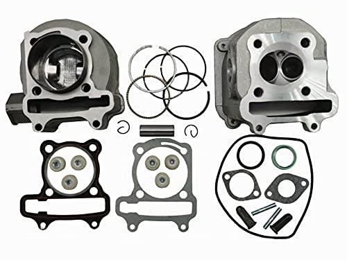 Aniro Moto Scooter 150cc GY6 Engine Rebuild Kit Cylinder Kit Cylinder Head Chinese Scooter 157QMJ head