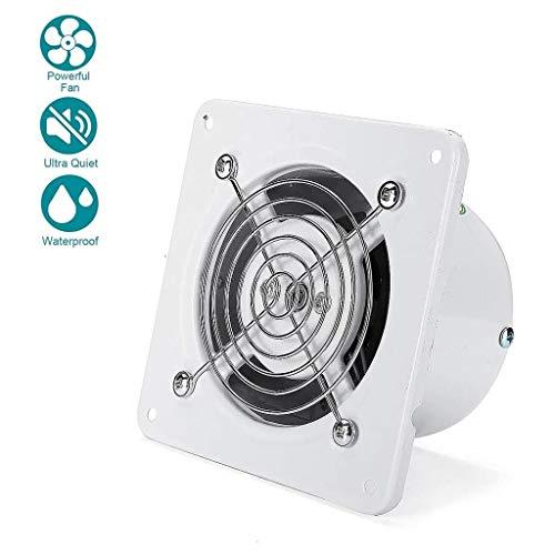Lcxligang Tranquilo baño Ventilador de 100 mm / 4 montado en la pared Extintor Super Silent ventilación 140 m³ / h con el no retorno de la aleta y un hermoso diseño for el cuarto de baño WC Oficina Ex