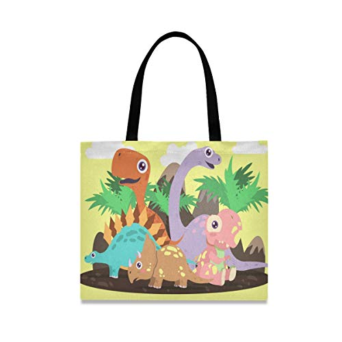 Cute Wild Dinosaur Reusable Shopping Tote Grocery Foldable Bag Portable Storage Shoulder Bags Handbags for Travel Women Girls