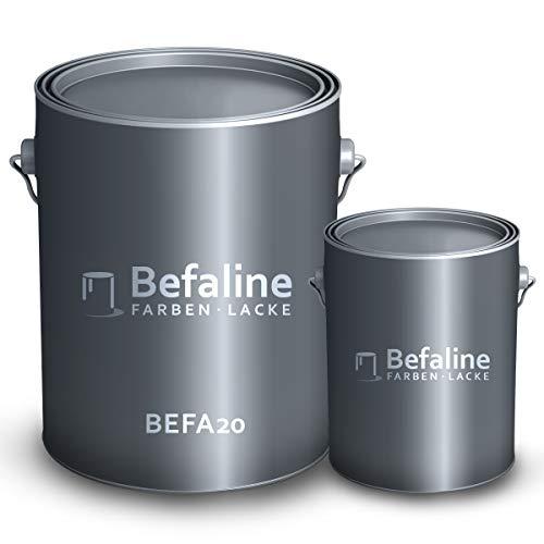 Befaline  Pintura de resina epoxi 2K para garaje, revestimiento de suelos, como RAL1015, color marfil claro, 2,5 kg