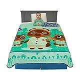 Franco Kids Bedding Super Soft Plush Micro Raschel Blanket, Twin/Full Size 62' x 90', Animal Crossing