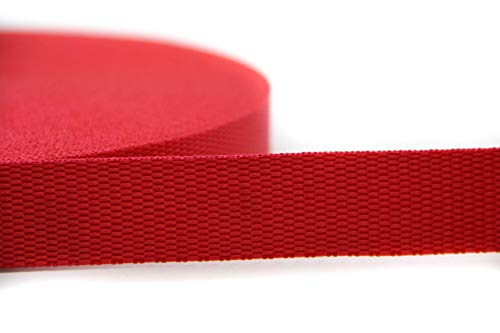 NTS-Nähtechnik Correa de 25 m de 100% polipropileno (rojo, 20).