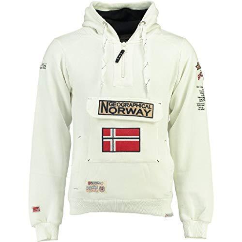 Geographical Norway - Sudadera DE Hombre GYMCLASS Blanco S