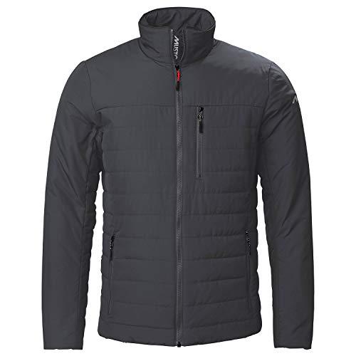Musto Herren Sardinia Insulator - Mantel - Jacke 8 - Kohlenstoff - Leichte atmungsaktiv - DWR Behandlung - YKK Metalux Front Zipper - Front Zipper