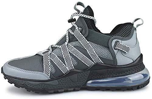 Nike Mens Air Max 270 Bowfin Running Shoes (9), Anthracite/Metallic Silver-cool Grey
