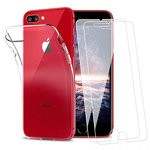Amonke Funda para iPhone 7 Plus iPhone 8 Plus + 2 Pcs...