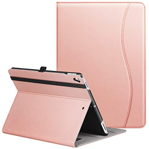ZtotopCase Case for iPad Air 10.5' 2019 (3rd Generation) & iPad Pro 10.5 2017,PU Leather Business Folio Cover,with Stand,Pocket and Auto Wake/Sleep Function,Multi-angle,Rose