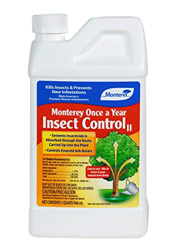 Monterey LG 6342 Once A Year Insect Control Concentrate Systemic Insecticide/Pesticide Treatment, 32 oz