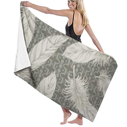 LREFON Toallas Motivo Verde Artisanat Plumes para la Ducha,Toallas de baño, Fitness, Deportes al Aire Libre