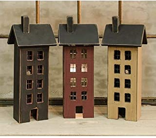 Country Crafts Primitive Saltbox House Assorted (Set of 3) G33462