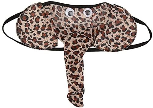 JFAN Tanga Hombre Slips Ropa Interior Thong en Diseño de Elefante, Divertida y Sexy
