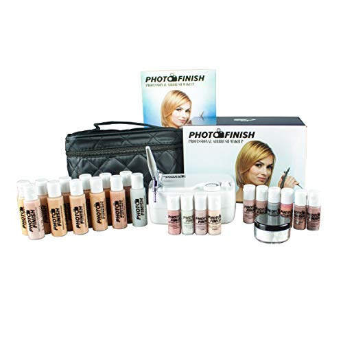 Airbrush Cosmetic Makeup Deluxe System Set Photo Finish...