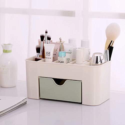 LINSUNG Bo?te de supports cosmétiques de tiroir de stockage maquillage de bureau espace d'économie Green 22 * 11 * 10.5cm